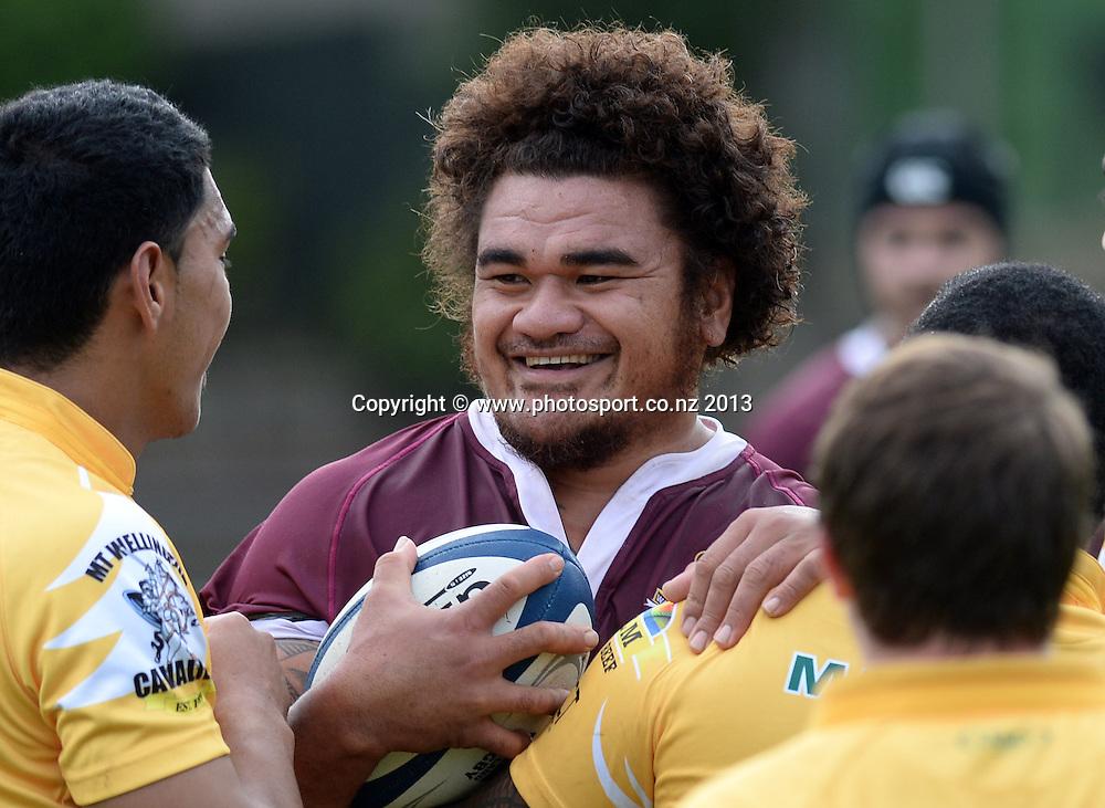 Waitakere City #8 Angsta Sae. Auckland Club Rugby Championship. Maungarua v Waitakere City. Mt Wellington, Auckland. Saturday 20 April 2013. Photo: Andrew Cornaga / photosport.co.nz