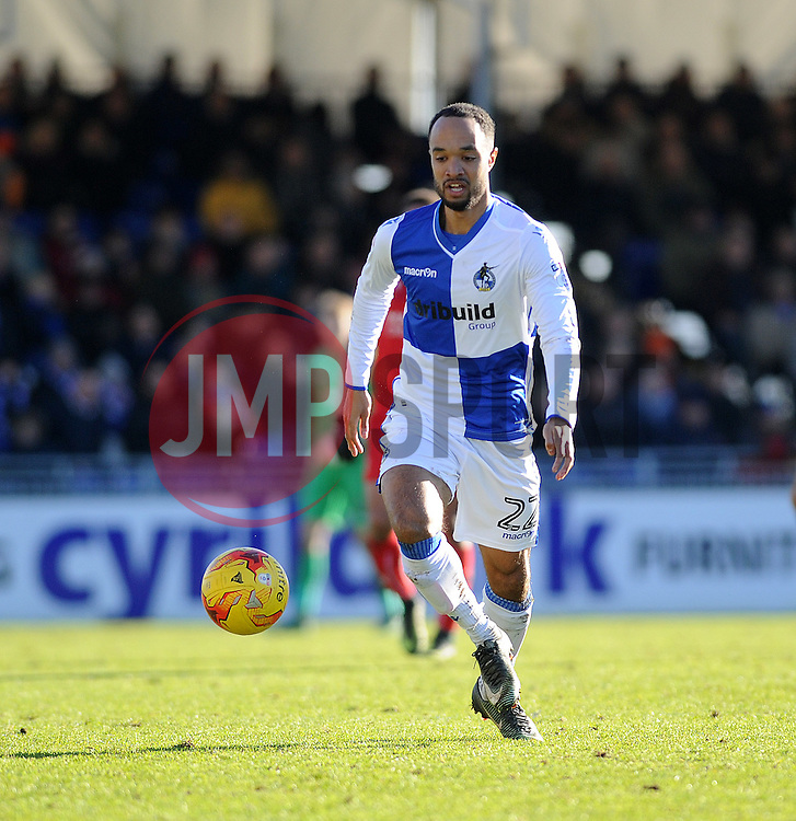 Byron Moore of Bristol Rovers - Mandatory by-line: Neil Brookman/JMP - 28/01/2017 - FOOTBALL - Memorial Stadium - Bristol, England - Bristol Rovers v Swindon Town - Sky Bet League One
