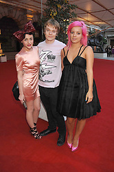 Left to right, JAIME WINSTONE, ALFIE ALLEN and LILY ALLEN at the Royal Academy of Art Summer Exhibition Preview Party on 4th June 2008.<br /><br />NON EXCLUSIVE - WORLD RIGHTS