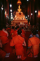 Buddhists at prayer, thailand