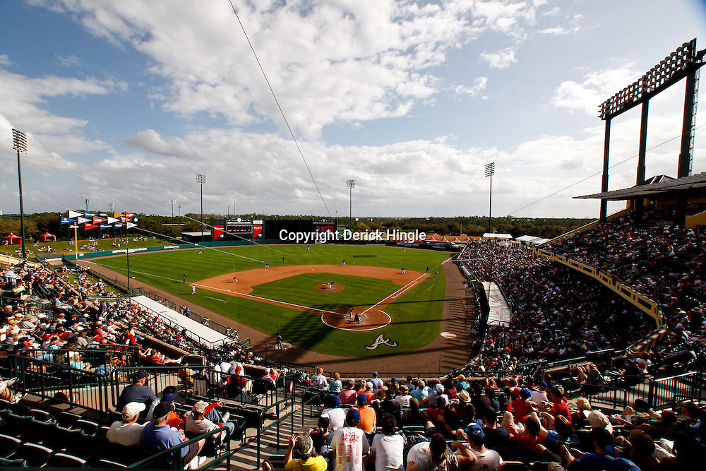March 5, 2011; Lake Buena Vista, FL, USA; A general view during a spring training exhibition game between the New York Mets and the Atlanta Braves at Disney Wide World of Sports complex.  Mandatory Credit: Derick E. Hingle