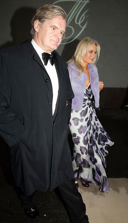 OSLO,  20140301: Jan Haudeman Andersen og Marthe Krogh giftet seg i fra Ris kirke. Masse kjendis- og finansvenner var tilstede. Tor Olav Trøim og Celina Midelfart.  FOTO: TOM HANSEN