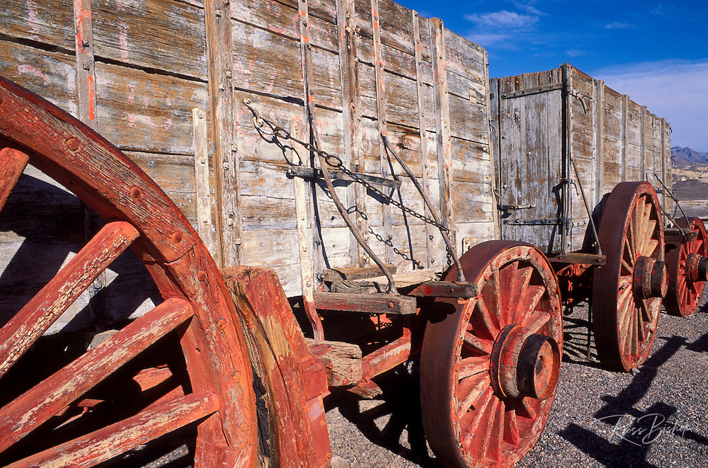 20 mule team wagons at the Harmony Borax Works, Death Valley National Park, California