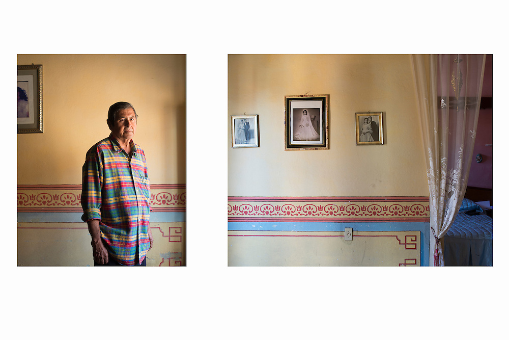 Diptych representing the inside of a casa particular in Trinidad.
