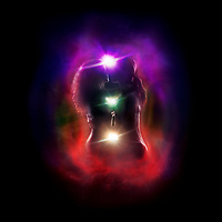 Tantra and Tantric sexuality artistic spiritual concept of a couple making love with the colorful chakra energy flow glowing emanations around their bodies. Isolated on black background.