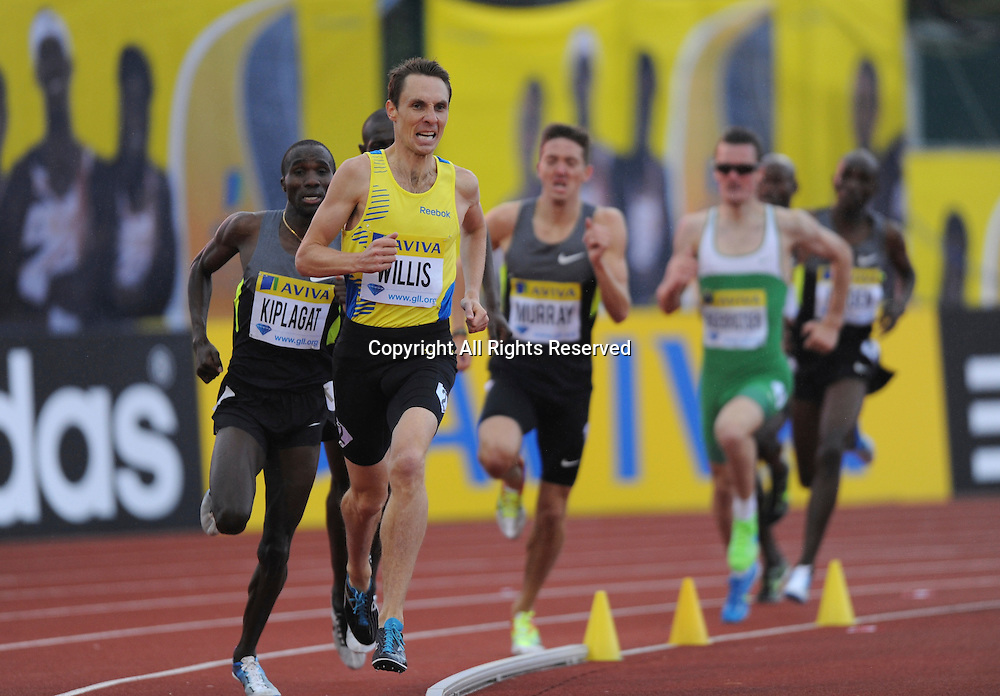 14.07.2012 London ENGLAND, Emsley Carr Mile, Nick Willis NZ in action during the Aviva Grand Prix at the Crystal Palace Stadium...