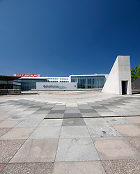 Exterior of Kulturforum museum complex in Berlin Germany