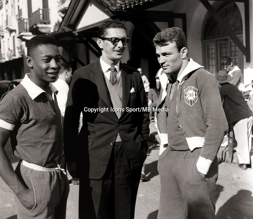 Pele / Jose Altafini - 01.09.1957 - Bresil - Premiere Selection -<br />