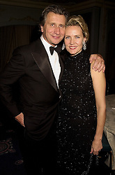 MR & MRS ARNAUD BAMBERGER, he is M/D of Cartier at an award dinner in London on 15th November 2000.OJE 64
