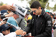 ALBERT PARK, VIC - MARCH 15: Mercedes-AMG Petronas Motorsport test Esteban Ocon driver The Australian Formula One Grand Prix on March 15, 2019, at The Melbourne Grand Prix Circuit in Albert Park, Australia. (Photo by Speed Media/Icon Sportswire)