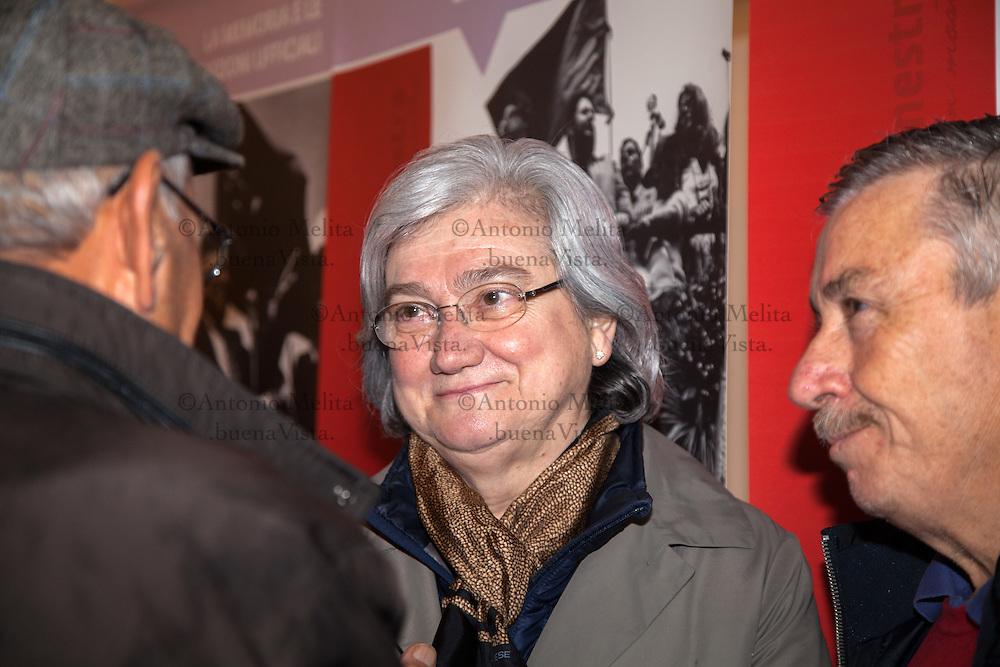 Rosy Bindi, President of the Anti-Mafia Commission, attends a ceremony on the anniversary of the massacre of Portella della Ginestra. For Labor Day, the CGIL has organized a march from Piana degli Albanesi.