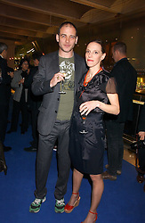 Artist DINOS CHAPMAN and his wife at an exhibition of leading artist Ellsworth Kelly at the Serpentine Gallery, Kensington Gardens, London followed by a dinner at the Riverside Cafe, London on 17th March 2006.<br /><br />NON EXCLUSIVE - WORLD RIGHTS