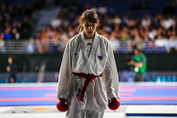 November 10, 2018 - Madrid, Madrid, Spain - Isaeva Victoria (RUS) get the silver medal and the second place of the tournament of Female Kumite -68 Kg during the Finals of Karate World Championship celebrates in Wizink Center, Madrid, Spain, on November 10th, 2018. (Credit Image: © AFP7 via ZUMA Wire)