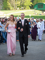 Laconia High School Junior Prom march at Gunstock Resort.  Karen Bobotas for the Laconia Daily Sun