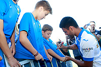 CD Leganes' new player Mauro Dos Santos with the supporters during his official presentation.  July 27, 2016. (ALTERPHOTOS/Acero)