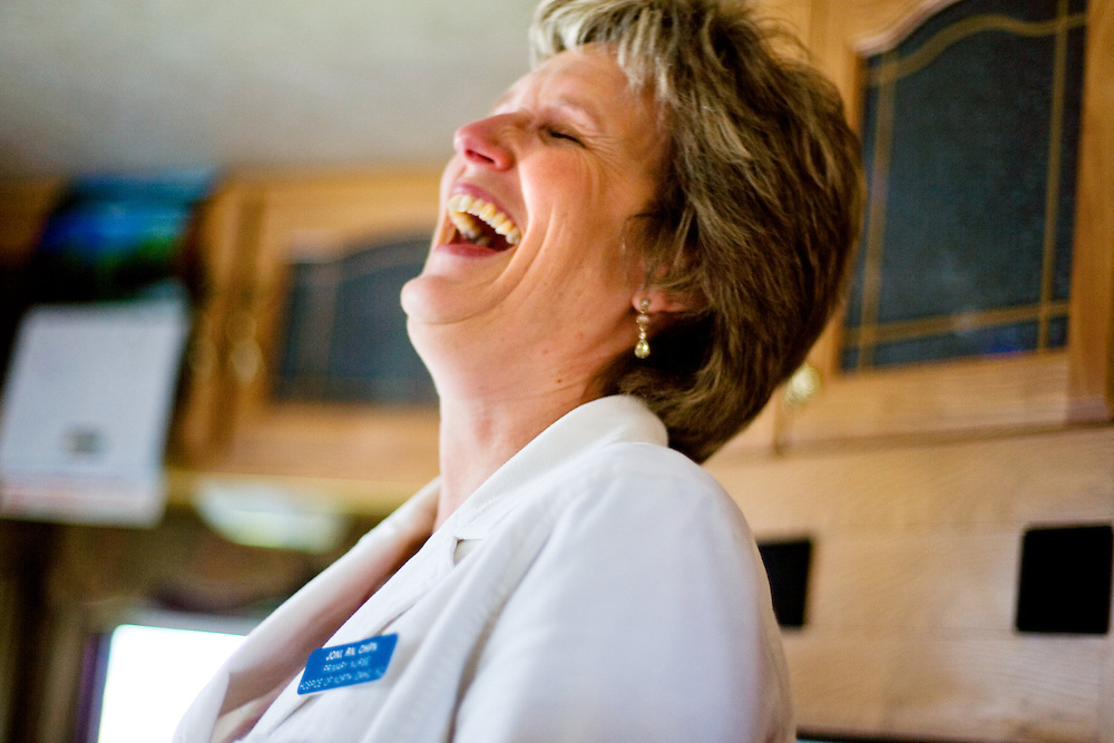 "April 11, 2007 --  Joni Connelly, a nurse with Hospice of North Idaho, tried to bring laughter into Dick and Nancy's world whenever she could. ""I try to be whatever a family needs me to be. I don't joke around with every family. But for Dick and Nancy, that's how they are so I try to relate to them on that level to make them more comfortable."""