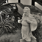 A statue in the gardens of the Chinese Cultural Center in Phoenix, AZ