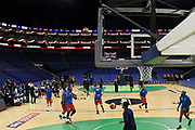 General view during a warm up session ahead of the Betway British Basketball All-Stars Championship at the O2 Arena, London, United Kingdom on 24 September 2017. Photo by Martin Cole.