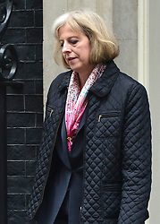 © Licensed to London News Pictures. 23/10/2012. Westminster, UK Home Secretary Theresa May. Ministers attend a Cabinet Meeting in 10 Downing Street today 23 October 2012. Photo credit : Stephen Simpson/LNP