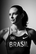 Sao Paulo, Brazil, May 24 of 2012: Fabiana Murer, pole vault world champion, during a Nike photo shoot in a studio, in Sao Paulo - Brazil.  (Photo: Caio Guatelli)