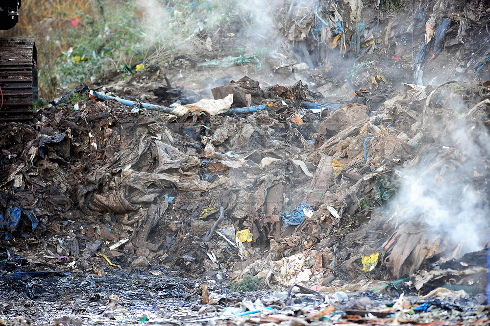 FILE PICTURE © Licensed to London News Pictures. 02/11/2016<br /> The BIG WASTE4FUEL clean up has started at the ex-recycling site in Cornwall Drive,St Pauls Cray,Orpington,Kent.<br /> Over the next 20 weeks more than 18.000 tonnes of waste will be removed from the site by the councils recycling partner Veolia with the work overseen by the environment agency.  The first of the lorries arrived yesterday. . Photo credit: Grant Falvey/LNP