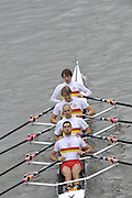 London, Great Britain,   Start No.14 TIDEWAY SCULLERS I. Elite 4x- . approach the start at Mortlake, Photo from Chiswick Bridge.  Fullers,  Fours Head of the River Race, Championship Course, Mortlake to Putney, River Thames. Saturday   05/11/2011   [Mandatory Credit. Peter Spurrier/Intersport Images]