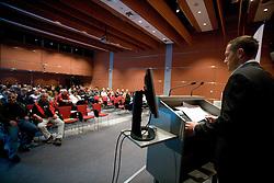 Jure Kosir at Elections for Alpine Ski president of Slovenian Ski Federation, on April 7, 2010, in Ljubljana, Slovenia.  (Photo by Vid Ponikvar / Sportida)