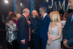Embargoed to 0001 Tuesday November 13 The Prince of Wales meeting Bill Bailey after the We Are Most Amused and Amazed performance at the London Palladium.