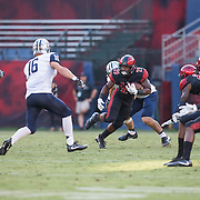 03 September 2016: The San Diego State Aztecs football team open's up the season at home against the University of New Hampshire Wildcats. San Diego State running back Juwan Washington (29) rushes the ball in the first quarter. The Aztecs lead 21-0 at halftime.www.sdsuaztecphotos.com