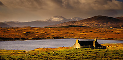 Croft cottage near Kintarvie, Isle of Harris, Outer Hebrides, Scotland<br /> <br /> (c) Andrew Wilson | Edinburgh Elite media