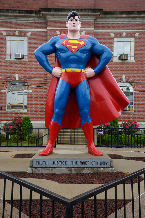 USA, Midwest,Massac County, Illinois, Metropolis, Superman Statue