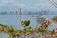 Panama city viewed from the Amador Causeway