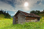 A shed in the ildernes