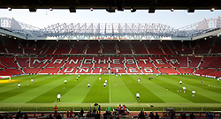 MANCHESTER, ENGLAND - Wednesday, March 16, 2016: Liverpool players during a training session at Old Trafford ahead of the UEFA Europa League Round of 16 2nd Leg match against Manchester United. (Pic by David Rawcliffe/Propaganda)