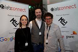 Caoimhe Maxwell, MEC; Dominic McGinley, AOL Technologies Ireland Ltd. and Adam Foley, Guardian Media.