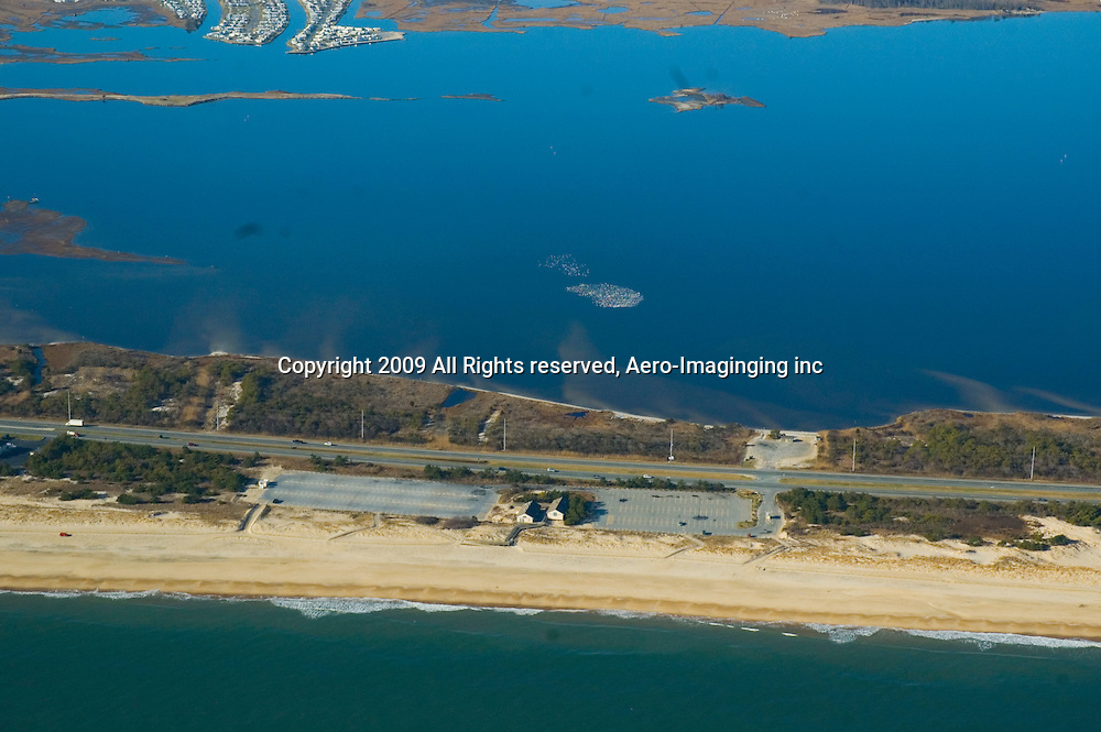 Aerial view of Delaware Beaches,<br /> Dewey, Rehobeth, Cape Henlopen, Tower Road, Bethany, Fenwick