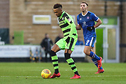 Forest Green Rovers Keanu Marsh-Brown(7) on the ball during the EFL Sky Bet League 2 match between Forest Green Rovers and Carlisle United at the New Lawn, Forest Green, United Kingdom on 23 December 2017. Photo by Shane Healey.
