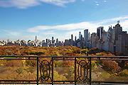 View of Central Park from 15 Central Park West, 18th floor terrace