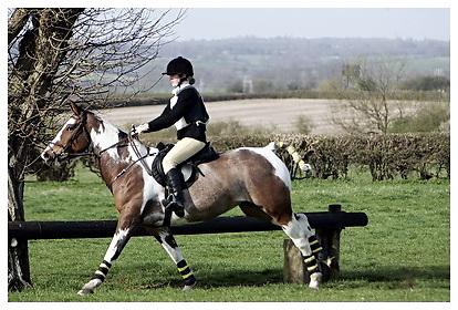 Buckingham Riding Club Eventer Trials at Milton Keynes Riding Club..5-4-2009.Ruby Toosday