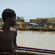 SAINT-LOUIS DU SENEGAL (Senegal). 2007. Young fisherman in Saint-Louis du Senegal