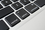 Apple macbook pro computer keyboard control, alt, option and command keys