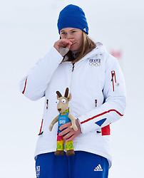 "14.01.2012, Patscherkofel, Innsbruck, AUT, Olympische Jugend Winterspiele, Ski Alpin, Super G, Damen, im Bild Siegerin Estelle Alphand (FRA) // Winner Estelle Alphand (FRA) during the Womens Super G of the Winter Youth Olympic Games at the ""Patscherkofel"", Innsbruck, Austria on 2012/01/14, EXPA Pictures © 2012, PhotoCredit: EXPA/ Juergen Feichter"