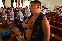 Mongolie. Ulaan Baatar (Oulan Bator). Eglise Adventiste du 7e jour. Jour de messe. // Mongolia. Ulan Bator. Seventh-Day Adventist Church. Mass day.
