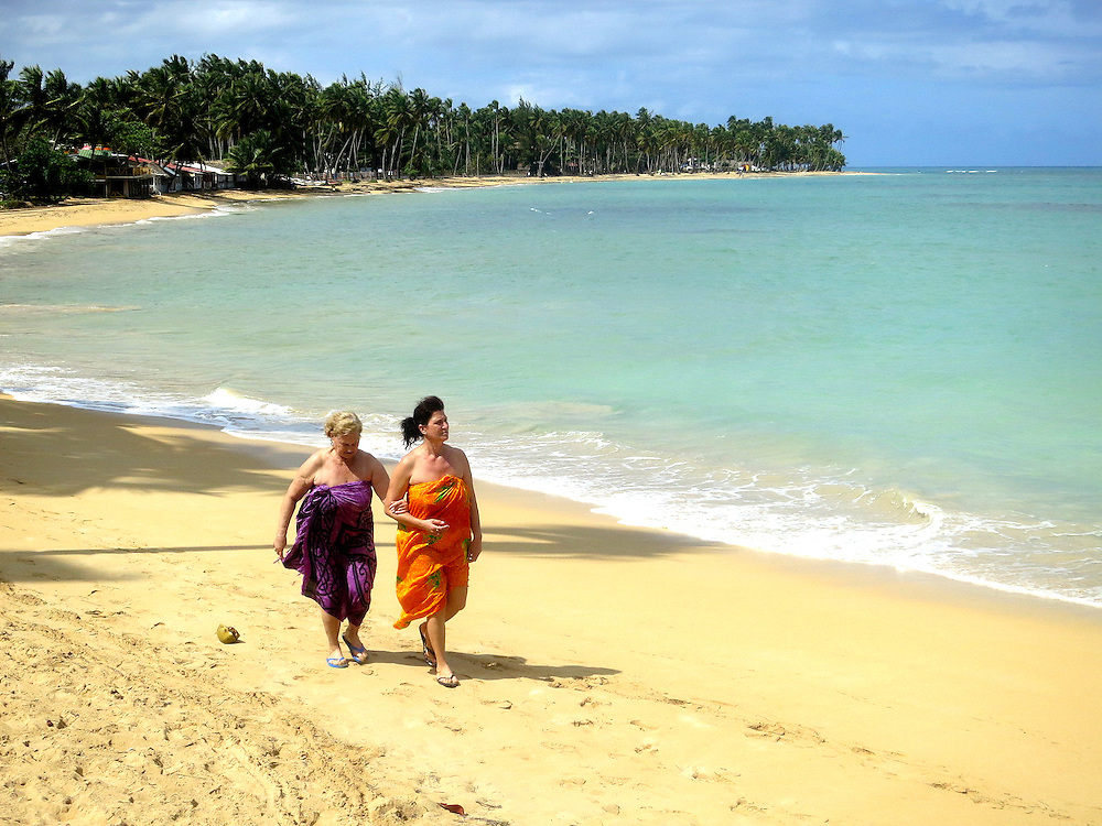Local beach, 100 feet from Casas del Mar Neptunia, Las Terrenas, Semana Peninsula.