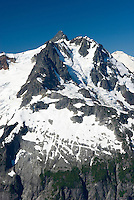 NE face of Mount Shuksan (9131 feet, 2783 meters) seen from summit of Ruth Mountain, North Cascades Washington