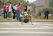 July 4th, 2006:  Anchorage, Alaska - Walter King (543), enters turn one of the 5k handcycle event at the 26th National Veterans Wheelchair Games..