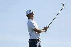 January 26, 2019 - San Diego, CA, USA - Justin Rose tees off on the 3rd hole during the third round of the Farmers Insurance Open at the Torrey Pines Golf Course in San Diego on Saturday, Jan. 26, 2019. (Credit Image: © K.C. Alfred/San Diego Union-Tribune/TNS via ZUMA Wire)