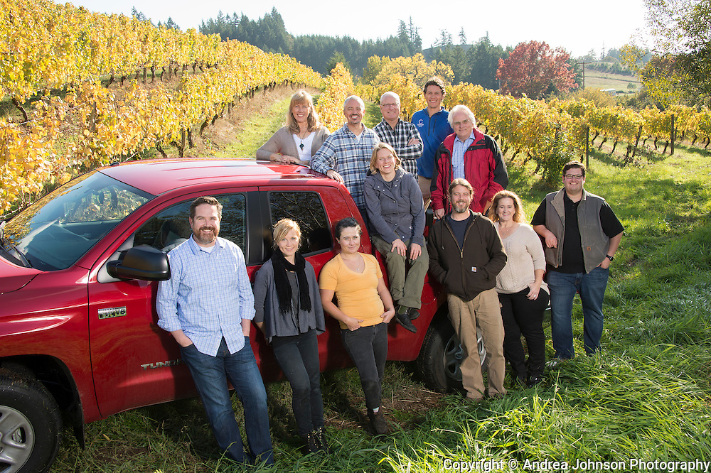 Team Chehalem harvest 2015, Chehalem Wines, Willamette Valley, Oregon