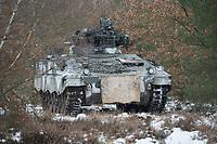 23 FEB 2013, LETZLINGEN/GERMANY:<br /> Schuetzenpanzer, SPz, Marder 1A3, des Panzergrenadierbattailons 212 der Bundeswehr mit Wintertarnung waehrend einer Gefechtsuebung im Winter, Gefechtsuebungszentrum Heer, Truppenuebungsplatz Altmark<br /> IMAGE: 20130223-01-033<br /> KEYWORDS: Gefechtsübung, Schnee, Schützenpanzer, Gefechtsübungszentrum, Heer, Armee, Streikräfte, Militaer, Miltär, Streitkraefte, Panzer, Streitkräfte