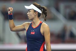 BEIJING, Oct. 6, 2018  Wang Qiang of China celebrates during the women's singles quarterfinal match against Aryna Sabalenka of Belarus at China Open tennis tournament in Beijing, China, Oct. 5, 2018. Wang Qiang won 2-0. (Credit Image: © Xinhua via ZUMA Wire)